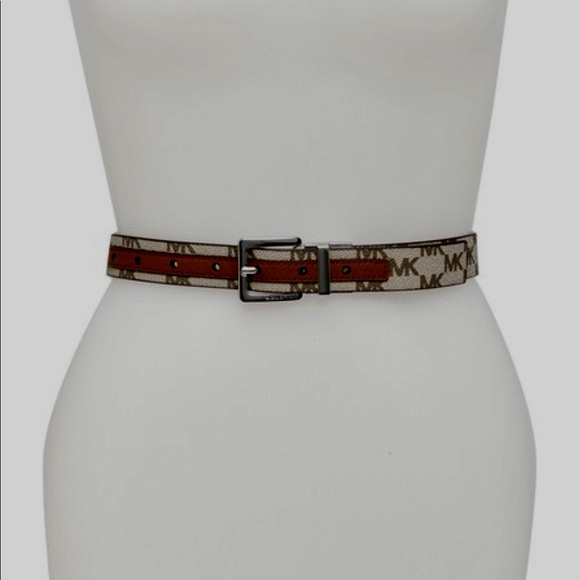 2bcf15790549 ... gold buckle vanilla belt 19691 012d7  inexpensive michael kors  reversible womens belt large a1256 9626e